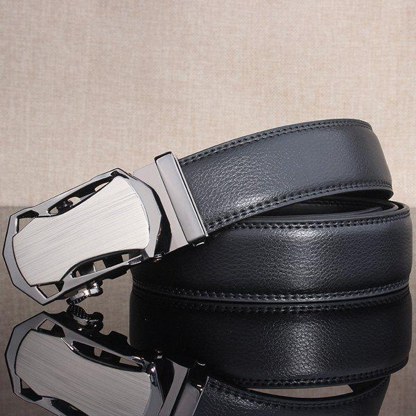 Polished Stylish Automatic Buckle Wide Belt - FROST