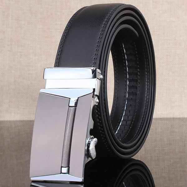 Polished Rectangle Automatic Buckle Stylish Wide BeltAccessories<br><br><br>Color: CHINCHILLA