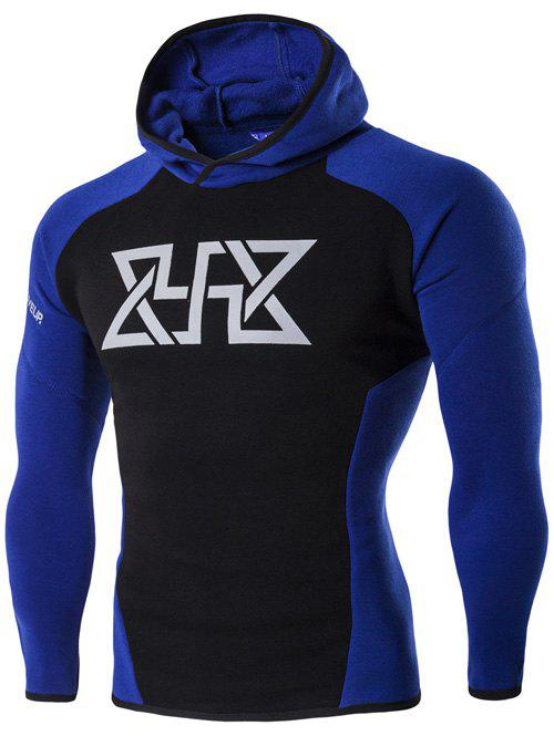 Color Block Spliced Graphic Print Raglan Sleeve Sport Hoodie graphic print raglan sleeve hoodie
