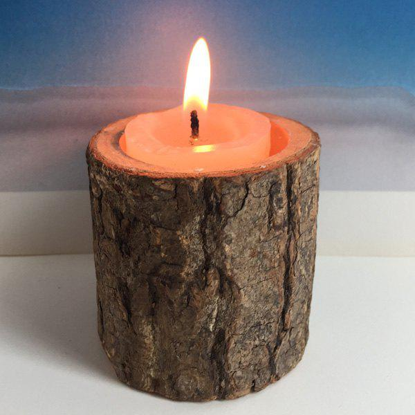 Countryside Style Original Ecology Woody Candle Holder ( Without Candle ) - BROWN
