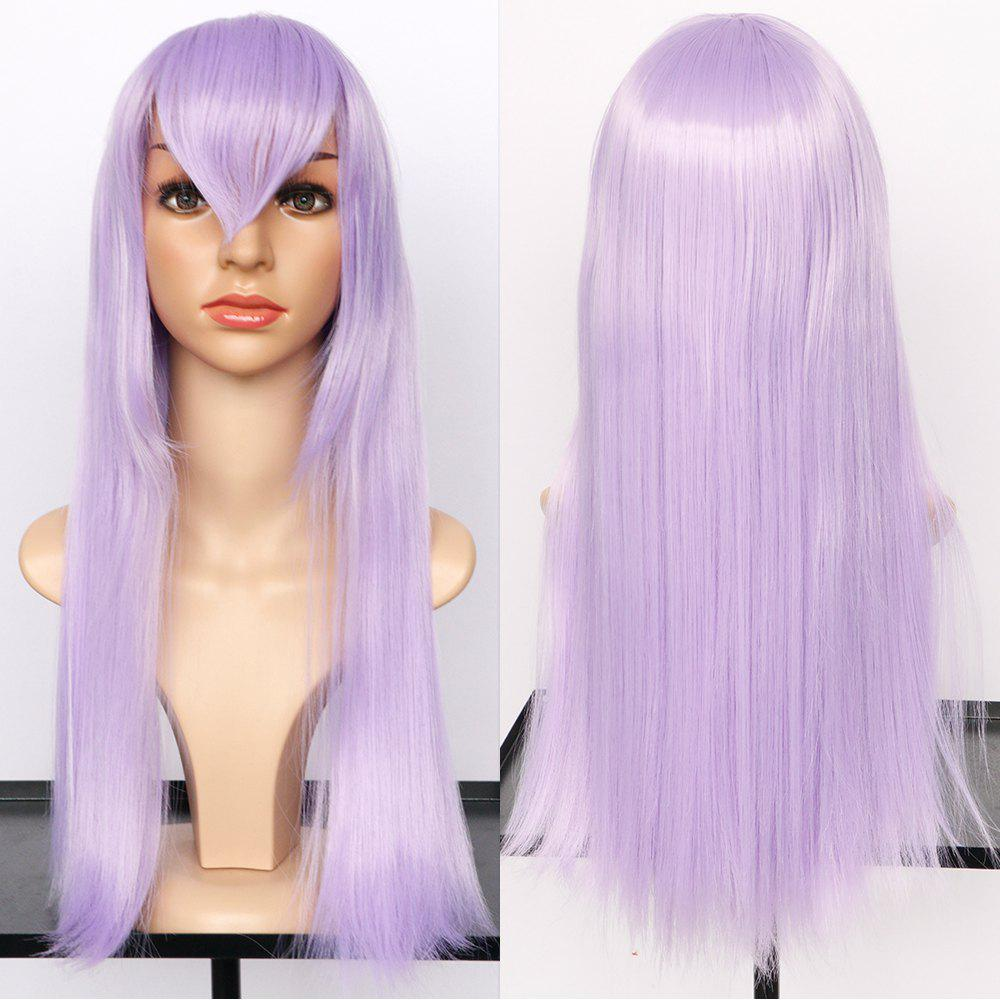 Long Side Bang Straight Synthetic Cosplay Wig qiyi charming glossy side bang long straight cosplay wig