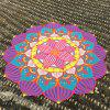 Merry Christmas Retro Lantern Flower Shape Beach Throw - BLUE ONE SIZE(FIT SIZE XS TO M)