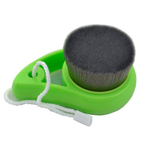 Bamboo Carbon Fiber Deep Pore Cleansing Facial Brush - GREEN