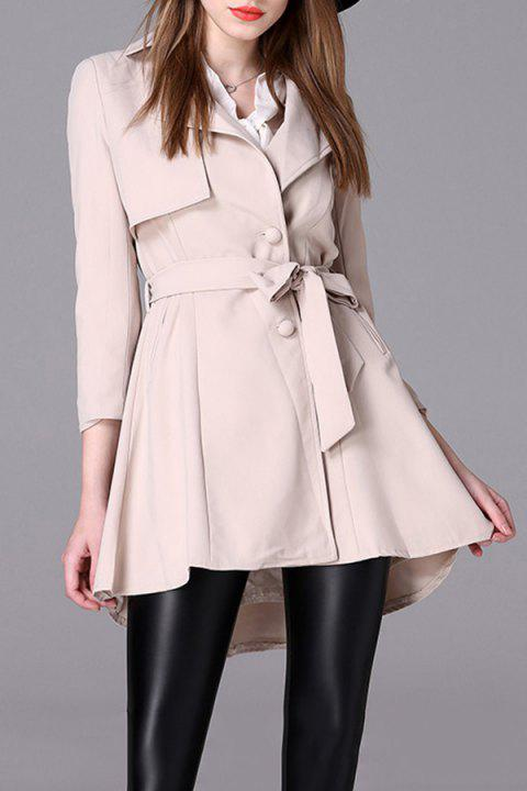 A Line Trench Coat With Belt - OFF WHITE M