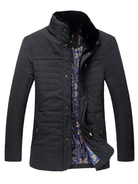 Pied de col Zipper Plus Size Down Jacket - Cadetblue 4XL