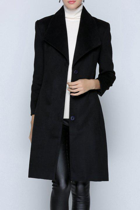 Bouton Fitting Up Manteau de laine - Noir S