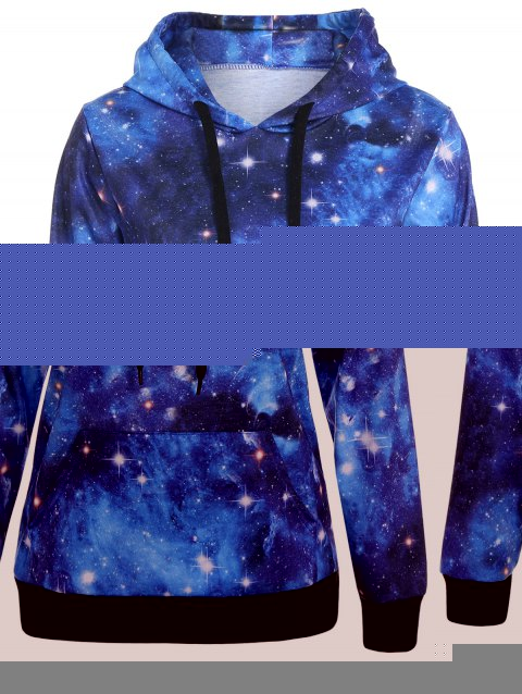 c5c902f06e43e LIMITED OFFER  2019 Plus Size Kangaroo Pocket Galaxy Hoodie In ...