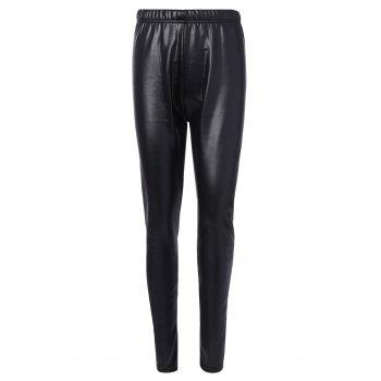Faux Leather Fleece Leggings