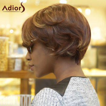 Adiors Natural Wave Fluffy Side Parting Short Colormixed Synthetic Wig - COLORMIX