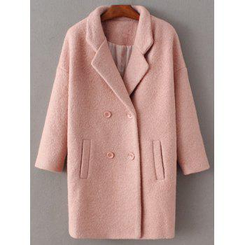 Lapel Wool Double Breasted Coat