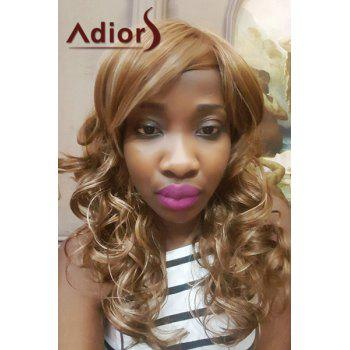 Adiors Long Mixed Color Side Bang Curly Synthetic Wig - COLORMIX COLORMIX