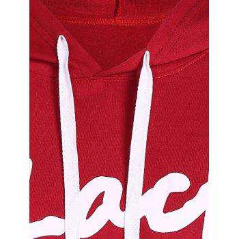 Drawstring Black Friday Print Hoodie - RED M