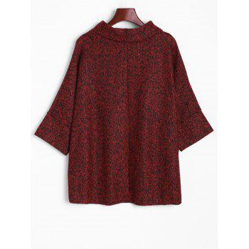 Dolman Sleeve Irregular Blouse - DARK RED DARK RED