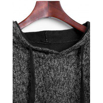 Heather Hooded Poncho Cape - GRAY ONE SIZE