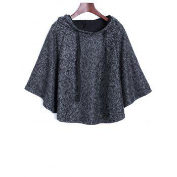 Heather Hooded Poncho Cape
