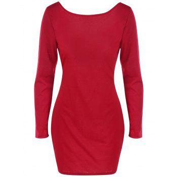Crossback Bodycon Dress - RED L