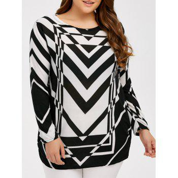 Plus Size Zigzag Pullover Sweater