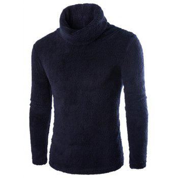 Turtleneck Fuzzy Fleece Sweater