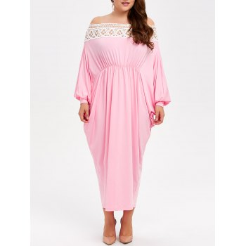 Off Shoulder Plus Size Long Batwing Formal Dress
