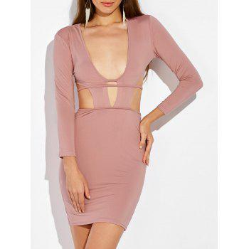 Cut Out Tie Back Bodycon Dress