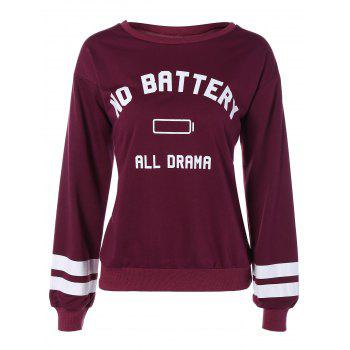 No Battery All Drama Print Sweatshirt