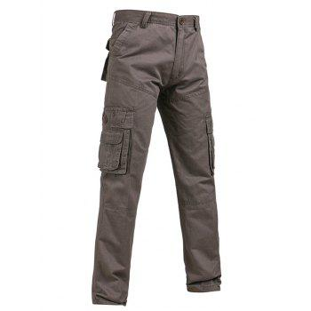 Pockets Design Straight Leg Plus Size Cargo Pants