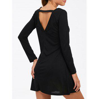 Cut Out Long Sleeve Dress