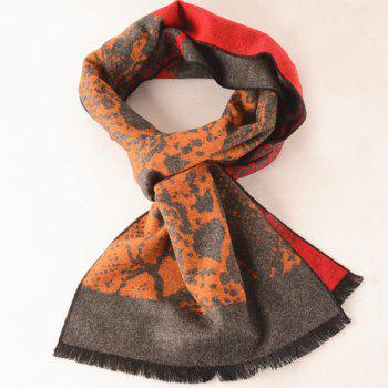 Outdoor Abstract Pattern Warm Scarf - GRAY GRAY