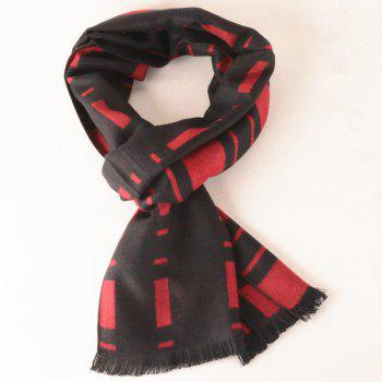 Stylish Plaid Pattern Fringe Scarf