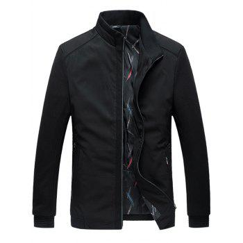 Zip Up Side Pocket Paneled Padded Jacket
