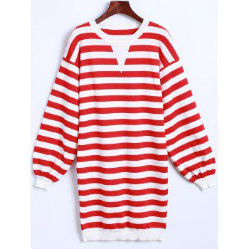 Striped Long Sleeves Knitted Dress