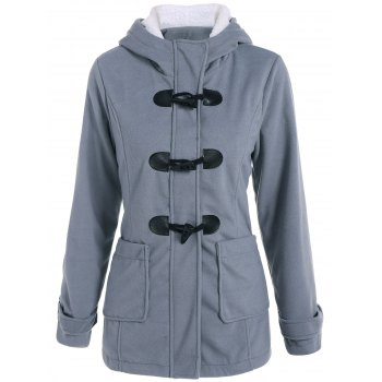 Woolen Hooded Duffle Coat