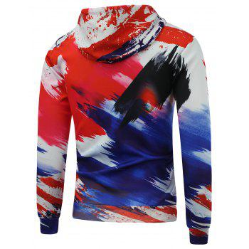 4th of July Eagle Printed Pullover Hoodie - 3XL 3XL