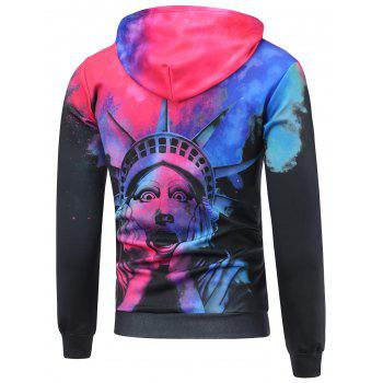 Statue of Liberty 3D Printed Funny Hoodie - 4XL 4XL