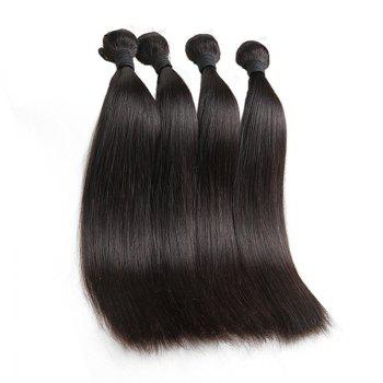 1 Pcs Straight 6A Virgin Brazilian Hair Weave - BLACK 28INCH