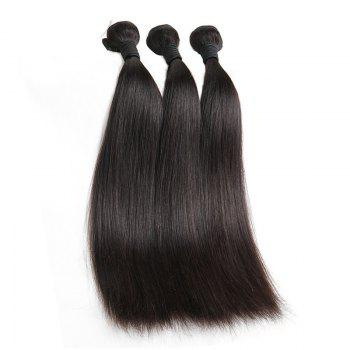 1 Pcs Straight 6A Virgin Brazilian Hair Weave - BLACK BLACK