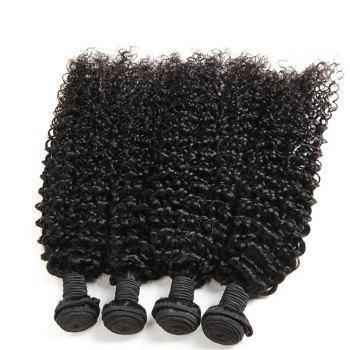 Kinky Curly 1 Pcs 6A Virgin Brazilian Hair Weave - BLACK BLACK