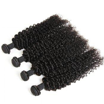 Kinky Curly 1 Pcs 6A Virgin Brazilian Hair Weave - Noir 18INCH