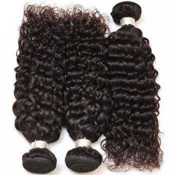 Deep Curly 1 Pcs 6A Virgin Brazilian Hair Weave - BLACK 28INCH