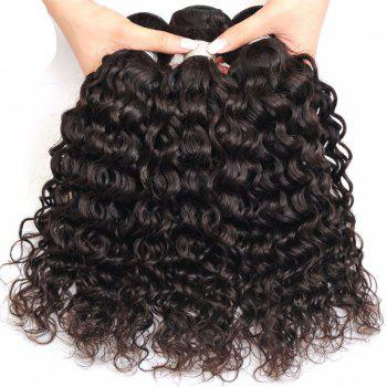 Deep Curly 1 Pcs 6A Virgin Brazilian Hair Weave - BLACK BLACK