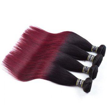 1 Pcs Ombre Droite Couleur 6A Virgin Brazilian Hair Weave - multicolorcolore 24INCH
