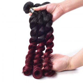 1 Pcs Ombre Color Loose Wave 6A Virgin Brazilian Hair Weave - COLORMIX 18INCH