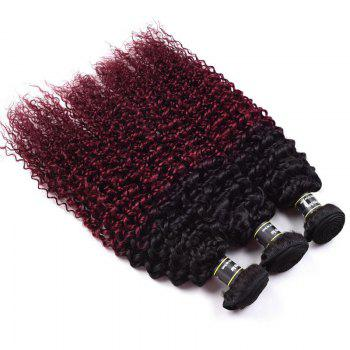 1 Pcs Ombre Color Kinky Curly 6A Virgin Brazilian Hair Weave - 20INCH 20INCH