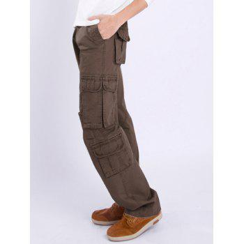 Zipper Fly Multi Pocket Straight Leg Pants