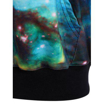 Galaxy Imprimer Sweat à capuche - Azur ONE SIZE