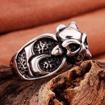 Vintage Skull Shape Ring - SILVER ONE-SIZE