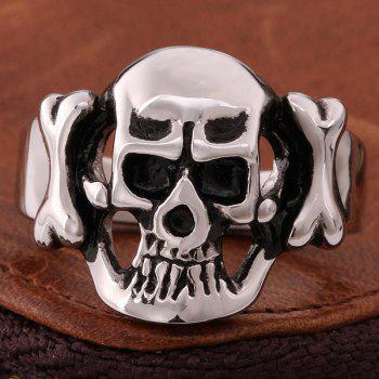 Alliage Adorn Diable Skull Ring - Argent 9