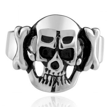 Alloy Adorn Devil Skull Ring