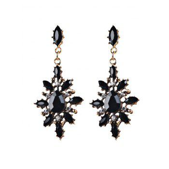 Fake Gem Chandelier Earrings