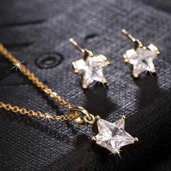 Rhinestone Star Necklace with Earrings